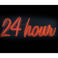 24 Hour Neon Sign