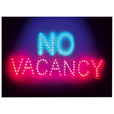 Large Red Blue Vacancy No Vacancy Led Sign