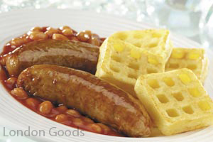 Sausages Beans Amp Mini Waffles Photo