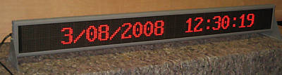 24 Character Message LED Display