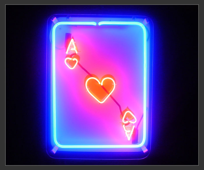 Ace Card Neon Sign Neon7