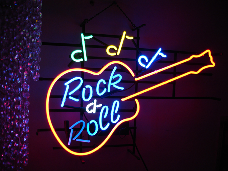 Guitar Rock Amp Roll Neon Sign