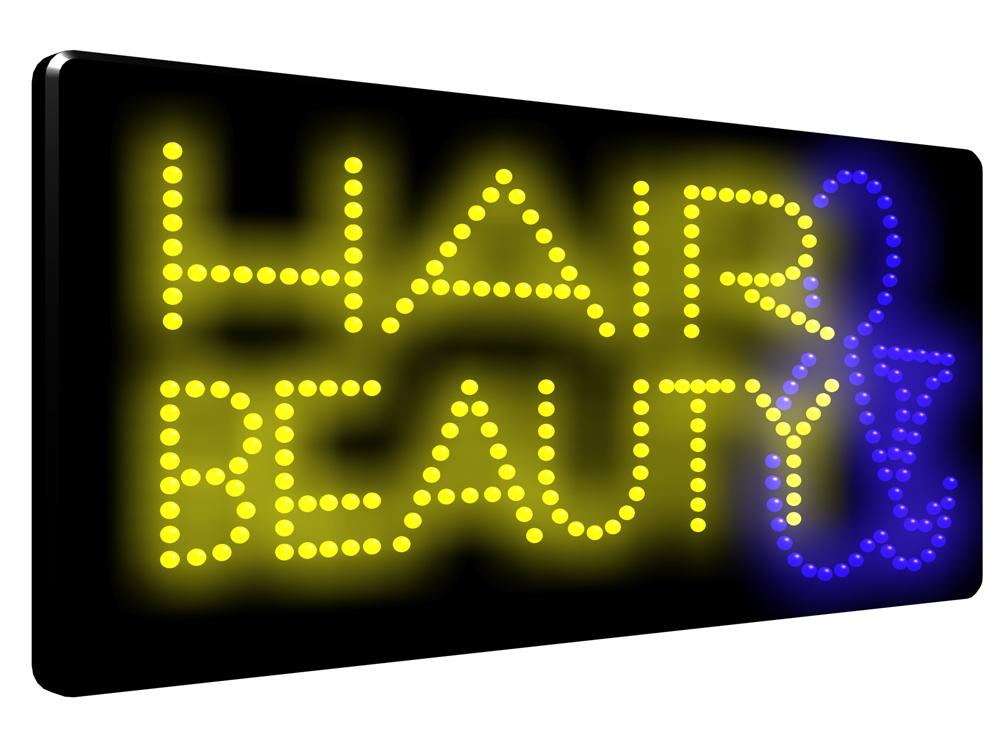 Hair Amp Beauty Led Sign Led2