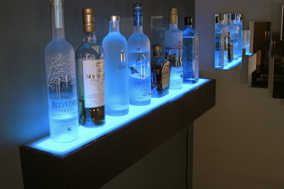 Illuminated Drinks Shelf